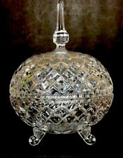 Vintage  Glass Candy Dish With Cover