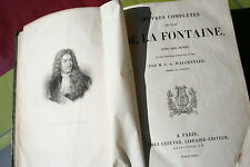 OEUVRES COMPLETES DE JEAN DE LA FONTAINE FORT VOLUME éd. LEFEVRE PARIS 1835