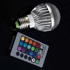 E27 8W 2 Million Color RGB LED Light Flash Bulb with Remote Control F0
