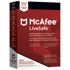 McAfee LiveSafe 2018, 1 User - Unlimited Devices, 1 Year - NEW DOWNLOAD VERSION