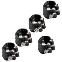 5 Pcs Tenor Saxophone Ligature Sax Accessories Black Leather