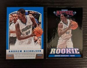 Andrew Nicholson Magic (2) RC Lot: Marquee Black Holoboard, Panini Basketball