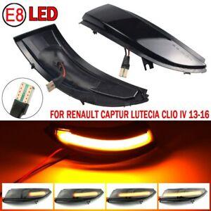 2X LED Dynamic Side Mirror Light For Renault Kaptur Captur J5 H5 Clio Grandtour