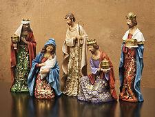 "CHRISTMAS DECORATIONS - ""JOY TO THE WORLD"" 5-PIECE NATIVITY SET"