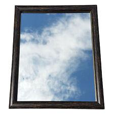 "*SALE* 10"" x 8"" Chocolate Brown Effect Framed Mirror Bathroom Bedroom Hall"