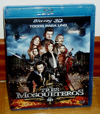 THE THREE MUSKETEERS BLU-RAY 3D NEW SEALED AVENTURAS ACTION (UNOPENED) R2