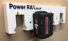 Click in Milwaukee 18v Battery Rack 2-10 slots,van racking batteries Power Rax