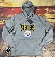 Nike Mens Pittsburgh Steelers Therma Fit Team Hoodie Sweatshirt Sz L Large NFL