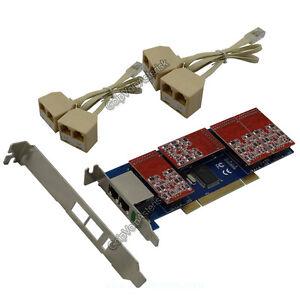 TDM800P 8FXO Asterisk card Low profile PCI card support trixbox elastix Freepbx