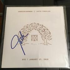 JUSTIN TIMBERLAKE SIGNED MAN OF THE WOODS VINYL ALBUM FILTHY 7 IN SINGLE BAS COA