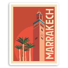 2 x 10cm Marrakesh Morocco Vinyl Stickers Holiday Travel Luggage Sticker #20845
