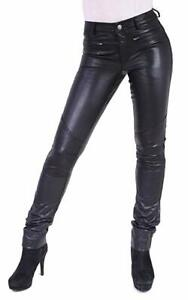 Damen Slim Lederhose Ricano echt Leder Donna 2 schwarz XS - 2XL
