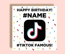 TikTok Birthday Card, TikTok Card for Son or Daughter, Personalised Card