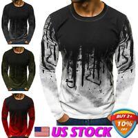 Men's Winter Slim Hoodie Warm Hooded Sweatshirt Coat Jacket Outwear Sweater USA