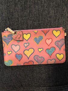 DOONEY & BOURKE Hearts Keychain Zipper Pouch with Heart- USED