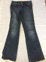 CACHE jeans Womens Size 2 boot leg length 34 medium wash denim 5c