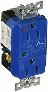 Hubbell IG5262SA 15A Duplex IG Surge Suppression SpikeShield Light and Alarm