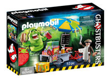 PLAYMOBIL 9222 Ghostbusters Hot Dog Stand with Slimer Playset