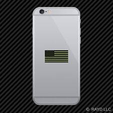 Subdued OD Green American Flag Cell Phone Sticker Mobile Die Cut america usa