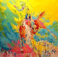 LeRoy Neiman Bucking Bronco horse Hand Signed Fine Art Serigraph COA MAKE OFFER