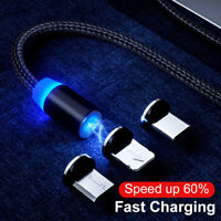 Magnetic 1M Cable Type C Micro USB Fast Data Sync Charging Charger CableLDUK Scu
