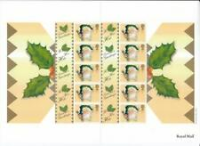 GB 2000 CHRISTMAS LS3 CRACKERS SMILERS SHEET 10 x 1st MINT STAMPS HIGH CAT VALUE
