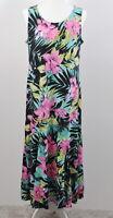 Attitudes by Renee Size Large Petite LP Como Jersey Printed Godet Maxi Dress
