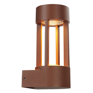 Intalite exterior IP44 SLOTS wall, wall light, rust, 6.3W COB LED, 3000K, IP44