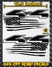 4x4 Off Road US Flag Truck Bed Decal Set MATTE BLACK for Ford F-150 Super Duty