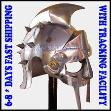 Gladiator Maximus Helmet Medieval Larp reproduction Armour greek Roman Helmet cc