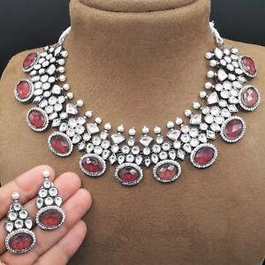 Bollywood Indian High Quality Bridal Wedding Kundan Choker Necklace Jewelry Sets