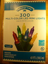 1 Set LED Multi Color Mini Style 300 Count Strand Lights Christmas Light-O-Rama