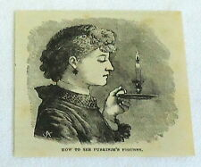 1880 magazine engraving ~ How To See Purkinje'S Figures with candle, vision