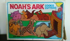 Noahs Ark Metal Cookie Cutters Made in USA 1985 -  5 metal Noah's Ark Cutters