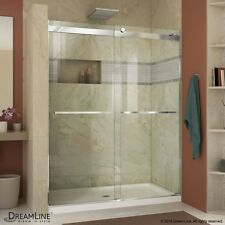 Essence 44 to 48 in. Frameless Bypass Shower Door. Chrome or Brushed Nickel