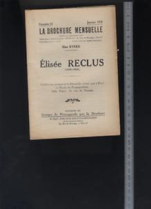 (170/65) Anarchie : La brochure mensuelle élisée Reclus / Han Ryner 1928