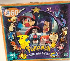 Pokémon Gotta Catch'em all Jigsaw Puzzle Vintage Milton Bradley Kids 60 Pieces