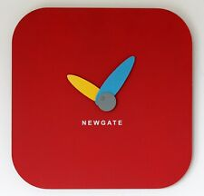 NEW 30cm Newgate Jot Wall Clock - Red Modern Wooden Chalk Board Memo Board Gift