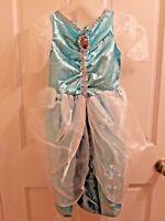 Disney Princess Cinderella Deluxe Sparkle Dress Halloween Costume Size 4-6x