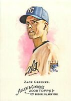 2008 TOPPS ALLEN & GINTER BASEBALL CARD - PICK / CHOOSE YOUR CARDS