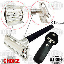 LGB®-Butterfly Men Safety Razor Double Edge Blades Classic Shaving Vintage Pouch