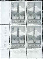 Stamps Canada Mint VF Scott #321 1953 Block of 4 $1.00 Totem Pole Never Hinged