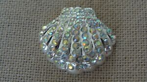 Metal Rhinestone Shell Needle Minder Keeper Cross Stitch D119 Fridge Magnet