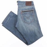 LEVI'S 514 Blue Denim Slim Straight Jeans Mens W36 L32