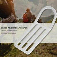 Scuba Diving 316 Stainless Steel 5cm Weight Belt Keeper Slider with D Ring