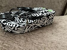 Brand New Dkny Fitflop Black White Wedges Shoes Sandals Size 6.5 Uk