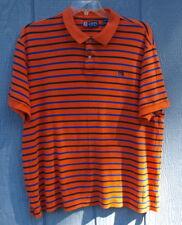 Ralph Lauren Chaps Polo Shirt Blue Orange Stripe Size Men's XXL