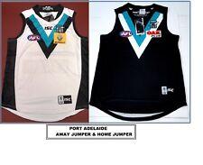 PORT ADELAIDE AFL JUMPER GUERNSEY - 2 X SIZE LARGE 1 HOME JUMPER + 1 AWAY JUMPER