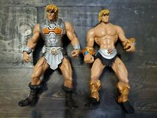 "2 Masters of the Universe 6"" figures He-Man 2002 Mattel"