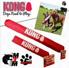 KONG Signature Stick Dog Puppy Fetch Throw Tug Play Squeak Rattles S M L or XL